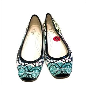 Coach Portia MultiColor Flat Shoes